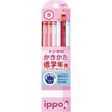 トンボ ippo! 低学年用 かきかた鉛筆 B 六角軸 MP−SKPW03−B
