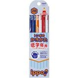 トンボ ippo! 低学年用 かきかた鉛筆 2B 六角軸 MP−SKRM03−2B