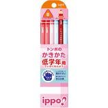 トンボ ippo! 低学年用 かきかた鉛筆 B 三角軸 MP−SEPW03−B