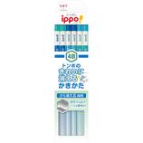 トンボ鉛筆 イッポ(ippo!) きれいに消える かきかたえんぴつ 4B KB−KSKM01−4B ブルー│鉛筆・鉛筆削り 鉛筆