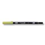 トンボ鉛筆 デュアルブラッシュペン AB−T131 Lemon lime