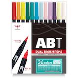 トンボ鉛筆 デュアルブラッシュペン 36色ベーシック AB−T36CBA