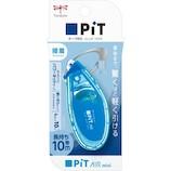 トンボ鉛筆 PiT テープのり ピットエアーミニ 6mm幅 PN-EASC40 ブルー│のり テープのり