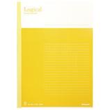 ナカバヤシ スイング・ロジカルノート セミB5 B罫 30枚 ノ-B501B-Y イエロー│ノート・メモ 大学ノート・綴じノート