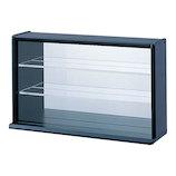 ナカバヤシ コレクションケース ミニワイド 透明アクリル棚板タイプ CCM002L ブラック