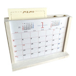【2021年版・卓上】 花岡 メモ&ぺん立て木製カレンダー