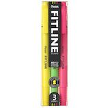 ぺんてる フィットライン 3色セット SLW11−3│マーカー・サインペン 蛍光ペン