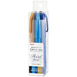 ぺんてる 筆タッチサインペン ラスティックカラー 5色セット SES15C5RST