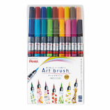 ぺんてる アートブラッシュ 18色セット XGFL-18STM│マーカー・サインペン 筆ペン・カートリッジ