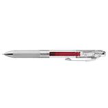 ぺんてる エナージェル インフリー 0.4mm 極細 BLN74TL−BG バーガンディ│ボールペン ゲルインクボールペン