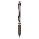 ぺんてる ノック式エナージェル 0.5mm セピア│ボールペン 水性ボールペン