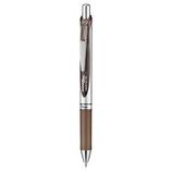 ぺんてる ノック式エナージェル 0.7mm セピア│ボールペン 水性ボールペン