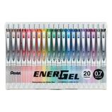 ぺんてる ノック式エナージェル 0.7mm 20色セット│ボールペン 水性ボールペン