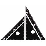 レイメイ 白黒三角定規 10cm APJ251B 黒