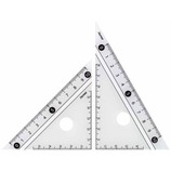 レイメイ 白黒三角定規 10cm APJ251W 白│定規・コンパス コンパス