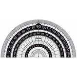 レイメイ 白黒分度器 9cm APJ151B 黒