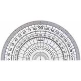 レイメイ 白黒分度器 9cm APJ151W 白
