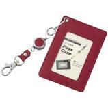 GLOIRE リール付きパスケース GLP164Z ワイン│財布・名刺入れ パスケース