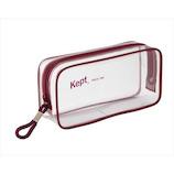 KEPT ケプト クリアペンポーチ KPF902R レッド│ペンケース ペンケース・筆箱