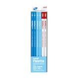 三菱鉛筆 ユニ パレット ダース箱 6角 K5563B B パステルブルー+赤鉛筆