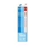 三菱鉛筆 ユニ パレット ダース箱 6角 K55632B 2B パステルブルー+赤鉛筆