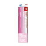 三菱鉛筆 ユニ パレット ダース箱 5564 6角 PLT PP+R B パステルピンク+赤鉛筆