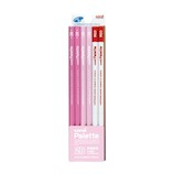 三菱鉛筆 ユニ パレット ダース箱 6角 K55642B 2B パステルピンク+赤鉛筆