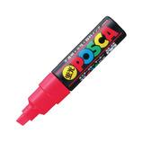 三菱鉛筆 ユニ ポスカ 水性太字 PC-8K 蛍光赤