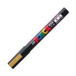 三菱鉛筆 ユニ ポスカ 水性細字 PC-3M 金
