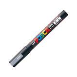三菱鉛筆 ユニ ポスカ 水性細字 PC-3M 銀