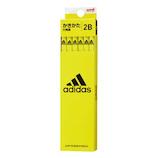 三菱鉛筆 アディダス(adidas) 紙ダース箱かきかた鉛筆 K5607 2B 6角 黄黒 12本入