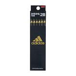 三菱鉛筆 アディダス 紙ダース箱かきかた鉛筆 2B K56012B 黒金│鉛筆・鉛筆削り 鉛筆