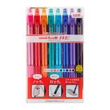 三菱鉛筆 ユニボール R:E 0.38mm URN-180-38 8C 8色アソート│ボールペン 消せるボールペン