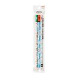 三菱鉛筆 hahatoco かきかた鉛筆 リス&家&ペンギン K6717HT01 3本パック 2B