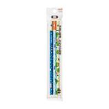 三菱鉛筆 hahatoco かきかた鉛筆 宇宙&海&カエル K6718HT01 3本パック B│鉛筆・鉛筆削り 鉛筆