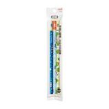 三菱鉛筆 hahatoco かきかた鉛筆 宇宙&海&カエル K6719HT01 3本パック 2B