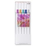 【発売日:2021年09月25日00時】三菱鉛筆 エモット(EMOTT) 5色セット NO.12 VIRTUAL