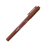 三菱鉛筆 プロッキー 極細+細字丸芯 PM-120T 茶