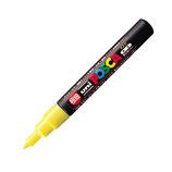 三菱鉛筆 ユニ ポスカ 水性極細 PC-1M 黄