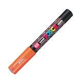 三菱鉛筆 ユニ ポスカ 水性極細 PC-1M 橙