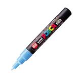 三菱鉛筆 ユニ ポスカ 水性極細 PC-1M 水色