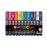 三菱鉛筆 ポスカ極細 12色セット