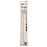 三菱鉛筆 マークシート用鉛筆 無地柄 3本入り HB UMSME3PHB 白