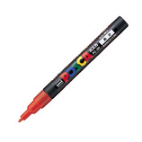 三菱鉛筆 ユニ ポスカ 水性細字 PC-3M 赤