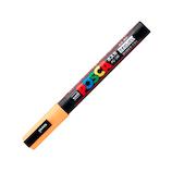 三菱鉛筆 ユニ ポスカ 水性細字 PC-3M うすだいだい