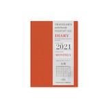 【2020年12月始まり】ミドリ トラベラーズノート リフィル 月間 パスポートサイズ マンスリー 14421 月曜始まり