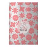 ミドリ 片面透明袋 M 18809006 メタリック 花柄 ピンク 8枚入り