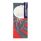 【2020年版・壁掛】 ミドリ 壁掛カレンダー越前和紙 L 30199006 風物柄 日曜始まり