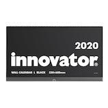 【2020年版・壁掛】 ミドリ イノベーターカレンダー壁掛 L 30916006 黒 日曜始まり