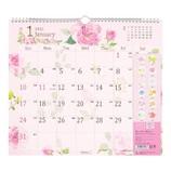 【2021年版・壁掛け】 ミドリ 壁掛カレンダー L  カントリータイム 花柄 31017006